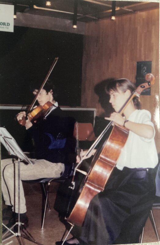 Szabolcsi Bence Zeneiskola kvartett koncert, 1994 - a fotó a szerző tulajdona