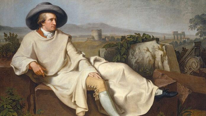 Goethe Tischbein festményén