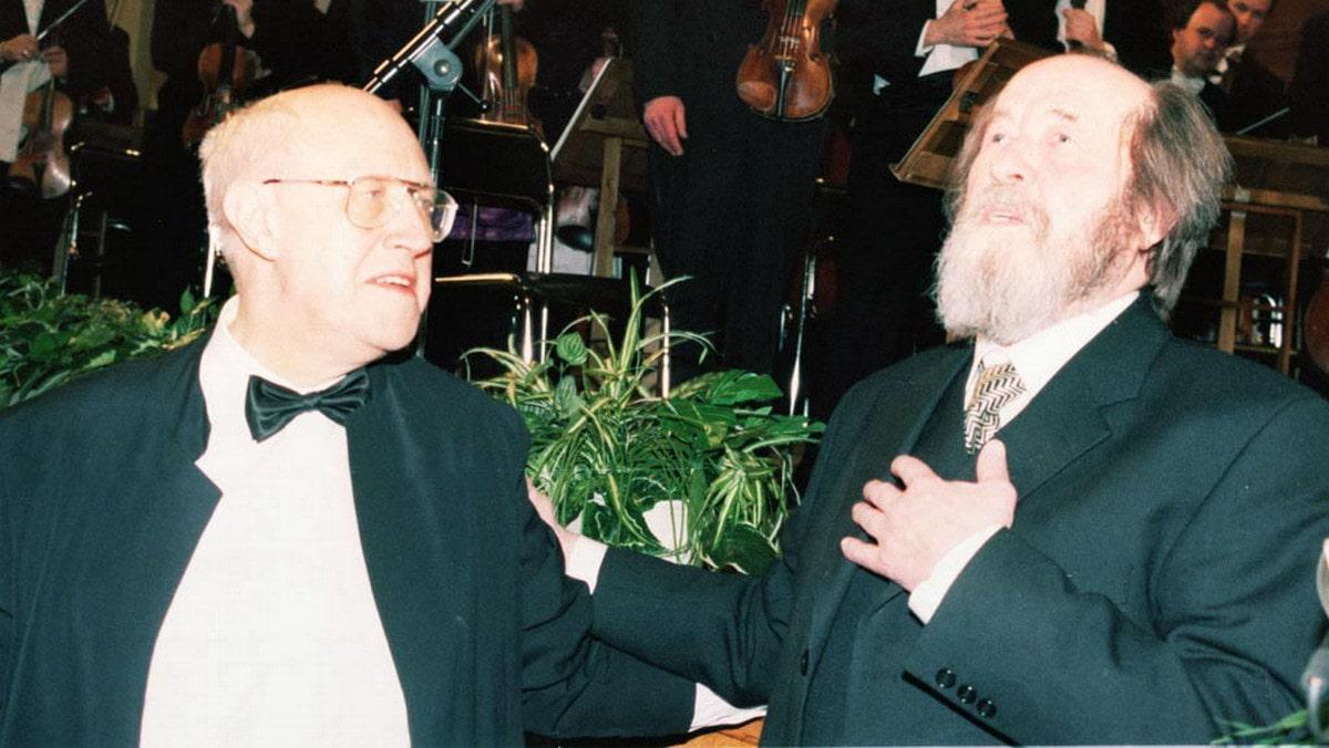 Msztyiszlav Rosztropovics és Alekszandr Szolzsenyicin