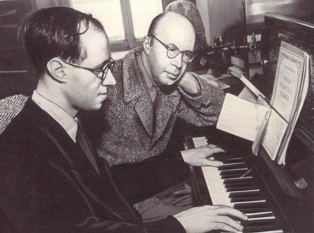 Szergej Prokofjev és Msztyiszlav Rosztropovics