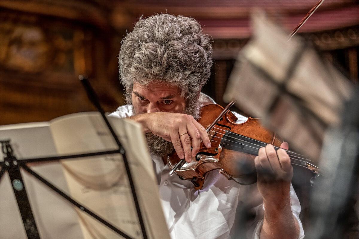 Főpróba a Zeneakadémia Nagytermében 2020. augusztus 20-án, a képen Kelemen Barnabás - fotó:  Felvégi Andrea