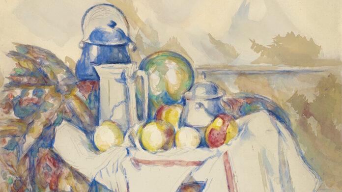 Paul Cézanne: Csendélet tejeskannával, dinnyével és cukortartóval – forrás: Christie's