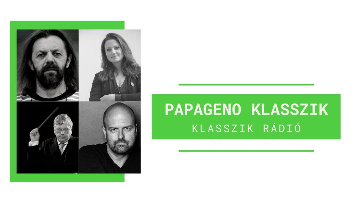 Bérczes László, Osvárt Judit, Strausz Kálmán és Weiler Péter a Papageno Klasszik műsorában