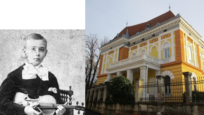 A Blumenschein-palota úrnője és híres vendége, Szigeti József