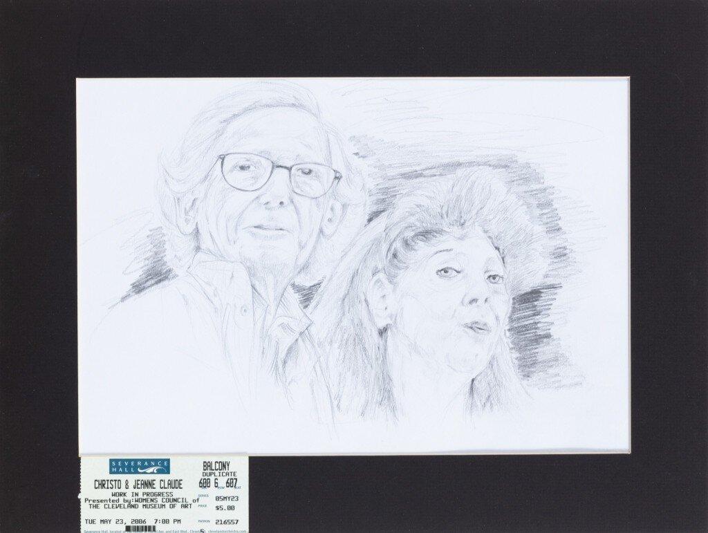 Irwan Awalludin: Christo és Jeanne-Claude portréja – forrás: Sotheby's