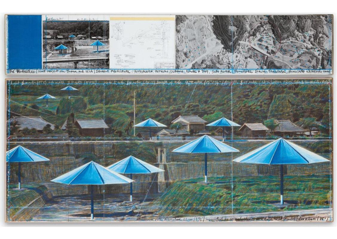 Christo és Jeanne-Claude: Az ernyők (Japán) – forrás: Sotheby's