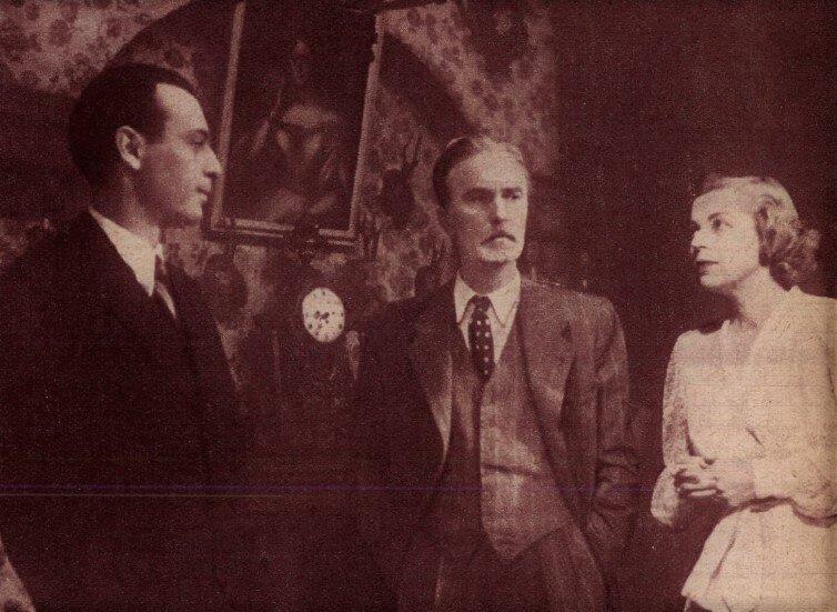 Várkonyi Zoltán, Uray Tivadar, Sennyei Vera. Lement a Hold (1945), Művész Színház / Forrás: Film Színház Muzsika, 1965/ 8. 19. Arcanum