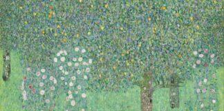 Gustav Klimt: Rózsabokrok a fák alatt - forrás: wikipedia