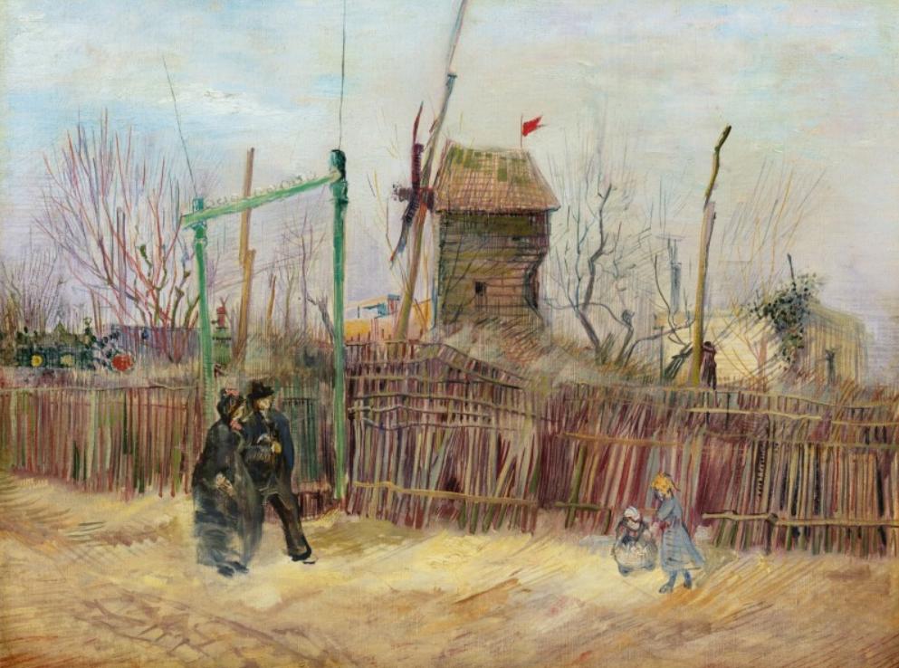 Vincent van Gogh: Montmartre-i utcai jelenetet - forrás: Sotheby's