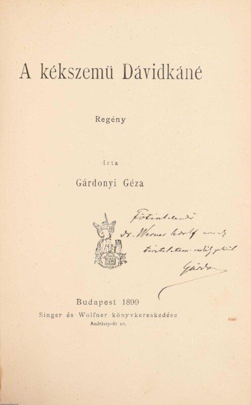 Gárdonyi-kötet dedikálva - forrás: antikvárium.hu
