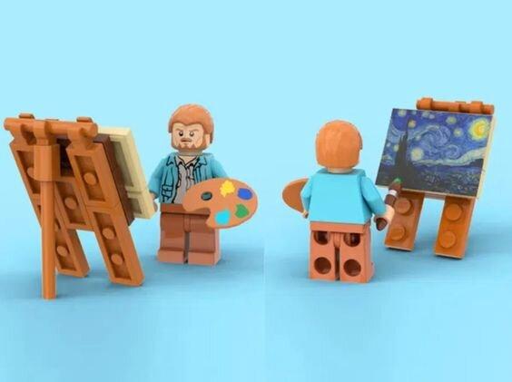 Vincent van Gogh, mint legóemberke - forrás: LEGO