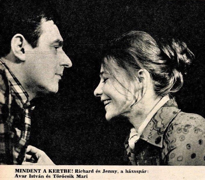 Avar Isvtán és Törőcsik Mari - forrás: Film Színház Muzsika, 1970/ 20. 5. Arcanum