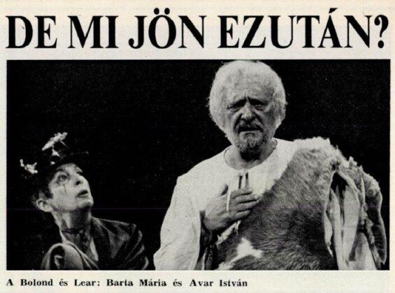 Barta Mária és Avar István - forrás:Film Színház Muzsika, 1989/ 43. 6. Arcanum