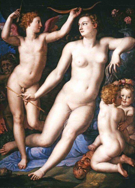 Agnolo di Cosimo Bronzino - Venus, Amor és a féltékenység, 1550