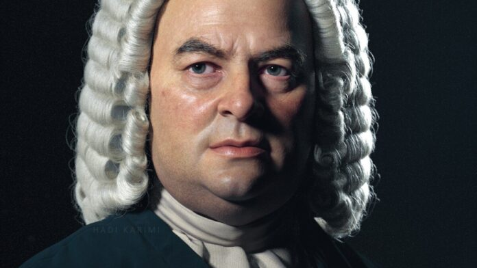 Hadi Karimi 3D-s portréja Bachról