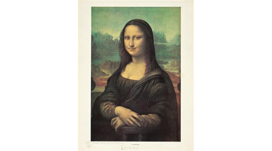 Marcel Duchamp: L.H.O.O.Q. (a Phillipsnél kalapács alá kerülő 1964-es példány) – forrás: Phillips