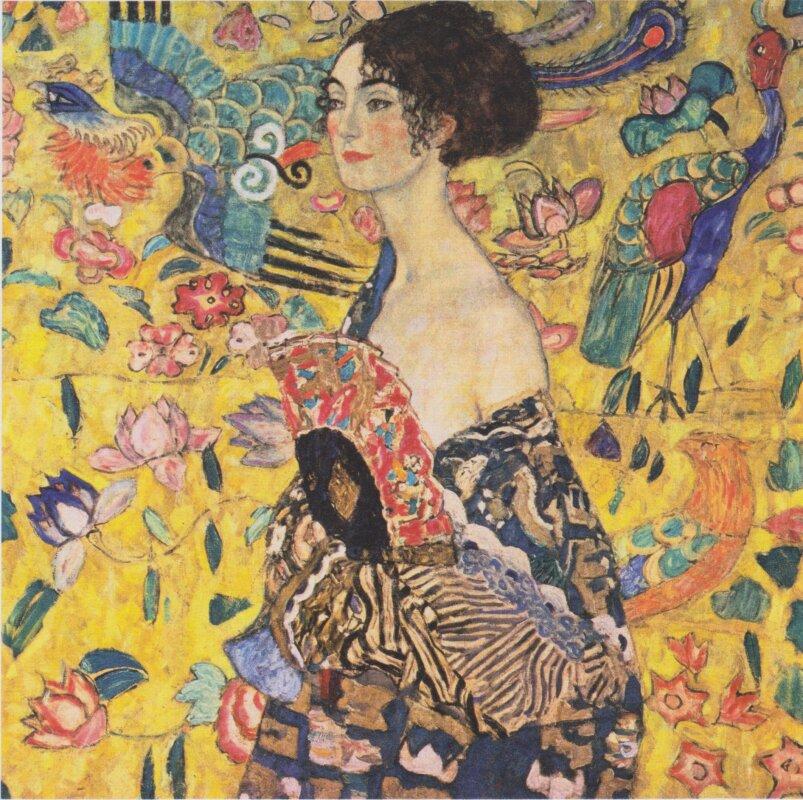 Gustav Klimt: Nő legyezővel (1917-18)