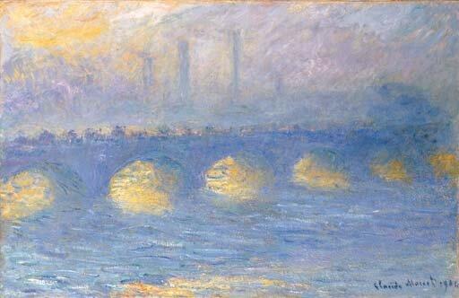 Claude Monet: Waterloo-híd, borús idő – forrás: Christie's