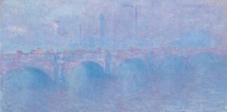 Claude Monet: Waterloo-híd, ködben – forrás: Christie's