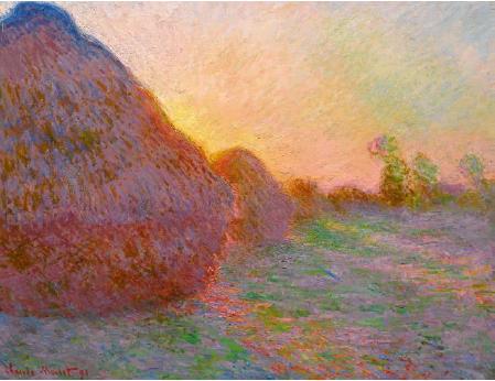 Claude Monet: Szénaboglyák – forrás: Sotheby's