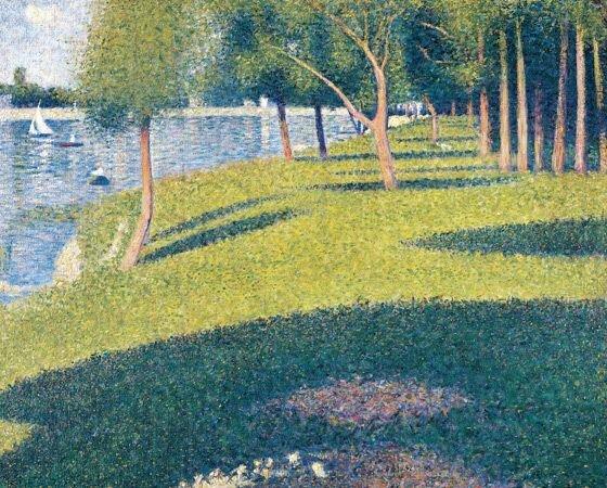 Georg Seurat: A Le Grande Jette sziget – forrás: Bellagio Gallery of Fine Arts