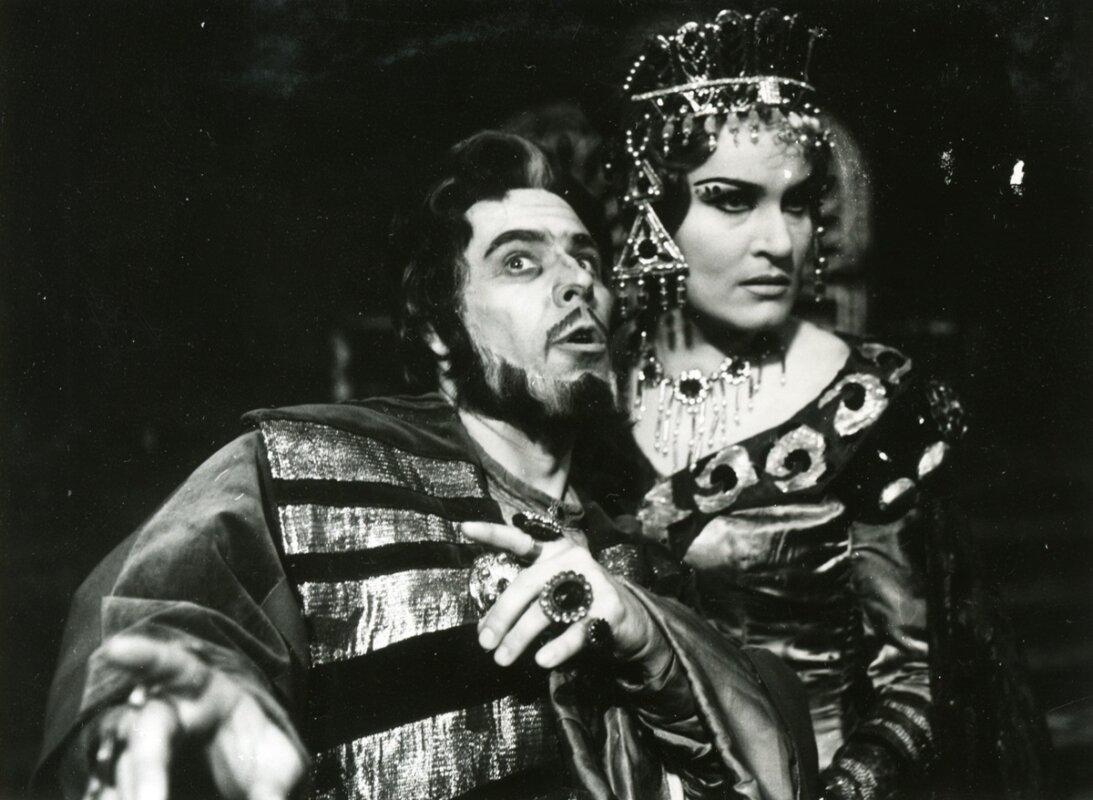 Salome 1972-ben Kasza Katalinnal - forrás: Operaház archívuma