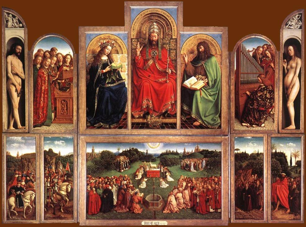 Hubert és Jan van Eyck: Agnus Dei Gyümölcsoltó Boldogasszony