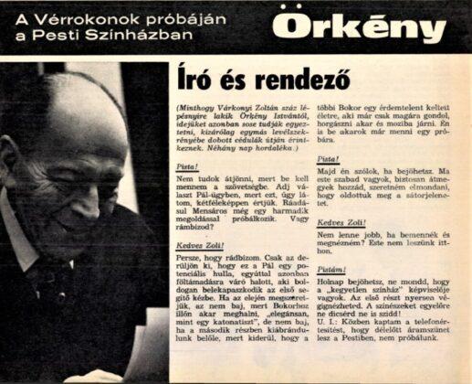 Film Színház Muzsika, 1974/ 11. 10. Arcanum