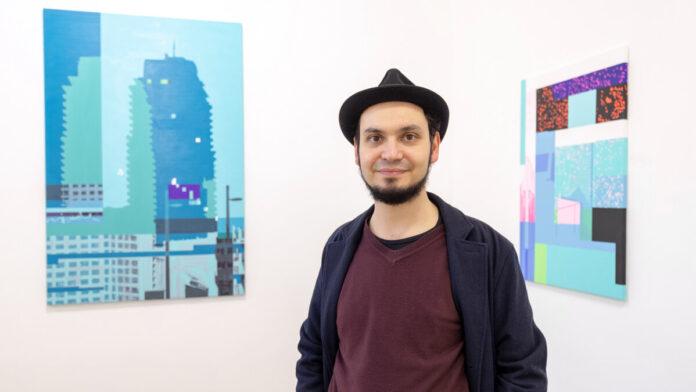 Szabó Kristóf ERROR című kiállításának megnyitóján - fotó: Jekken Péter