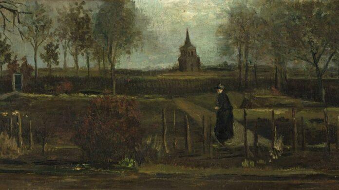 Vincent Van Gogh: A nueneni paplak kertje 1884 tavaszán - forrás: wikipedia