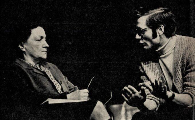 Bulla Elma és Székely Gábor a Macskajáték próbáján, Pesti Színház, 1971. - Forrás: Film Színház Muzsika, 1971/ 6. 12. Arcanum