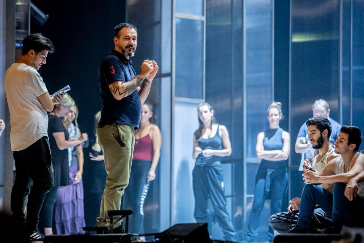 Vincze Balázs a La Mancha próbáján - forrás: Operettszínház
