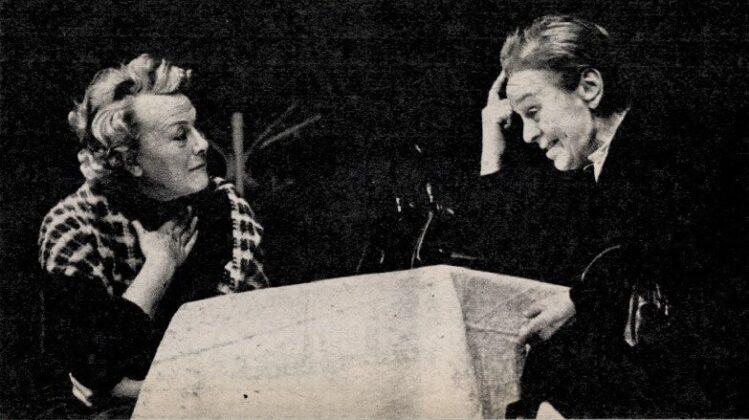 Simor Erzsi és Sulyok Mária a Macskajáték próbáján, Pesti Színház, 1971. - Forrás: Film Színház Muzsika, 1971/ 6. 12. Arcanum