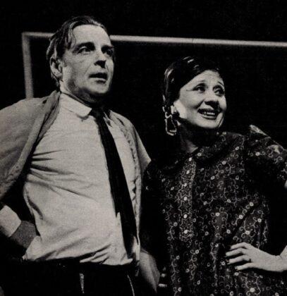 Tomanek Nándor és Ruttkai Éva, Vérrokonok, Pesti Színház, 1974. - Forrás: Film Színház Muzsika, 1974/ 16. 10. Arcanum