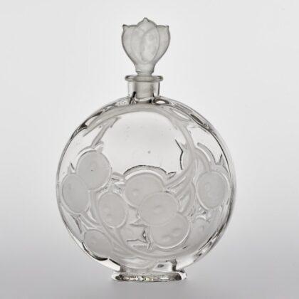 Illatszeres palack dugóval - testén kerti holdviola (júdáspénz) ággal - IM