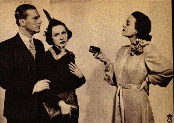 Somló István, Muráti Lili, Sulyok Mária, Hajnali vendég, Vígszínház, 1938. Forrás: Színházi Élet, 1938/ 7. 11. Arcanum