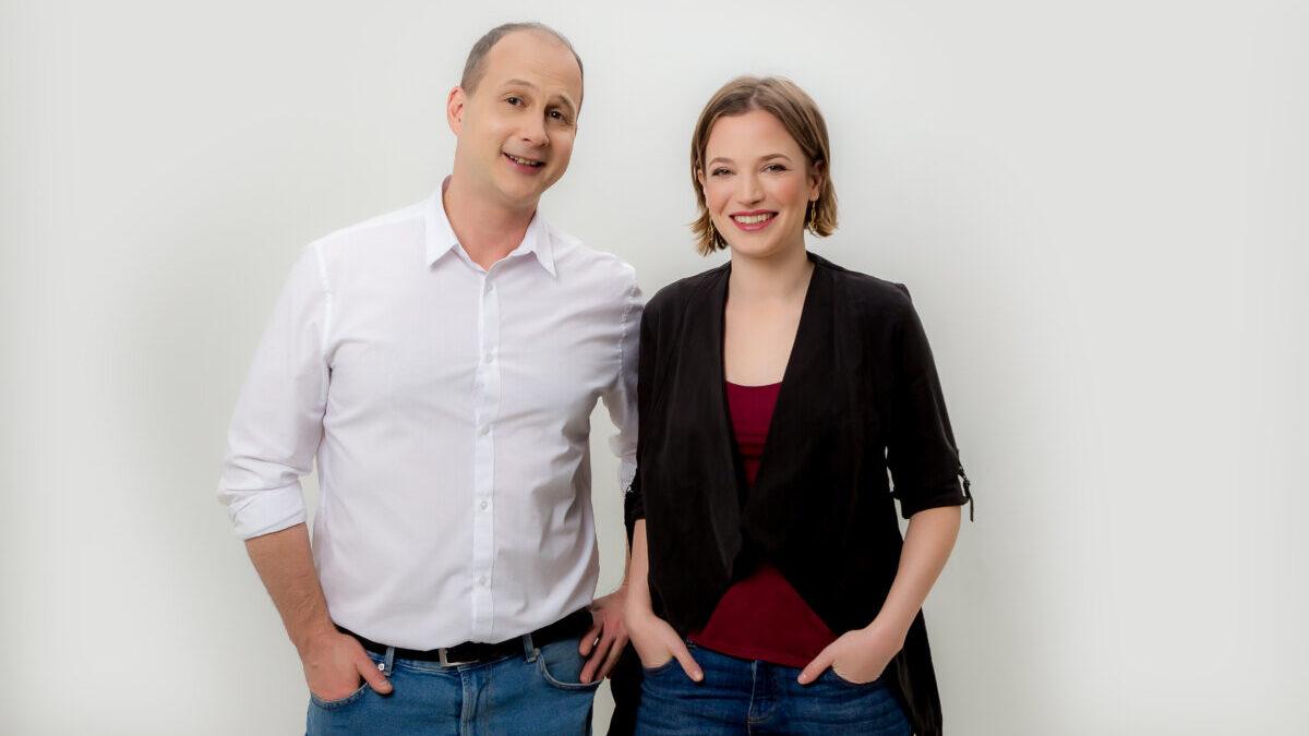 Novotny Anna és Zsoldos Dávid - fotó: Klasszik Rádió, GAP Studió
