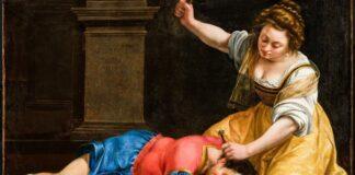 Artemisia Gentileschi - Jáhel és Sisera, 1620 - forrás: Szépművészeti Múzeum