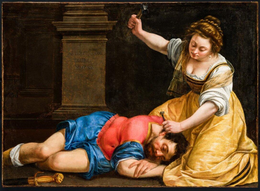 Artemisia Gentileschi: Jáhel és Sisera, 1620