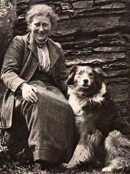 Beatrix Potter a Keb nevű kutyával 1913-ban - wikipedia