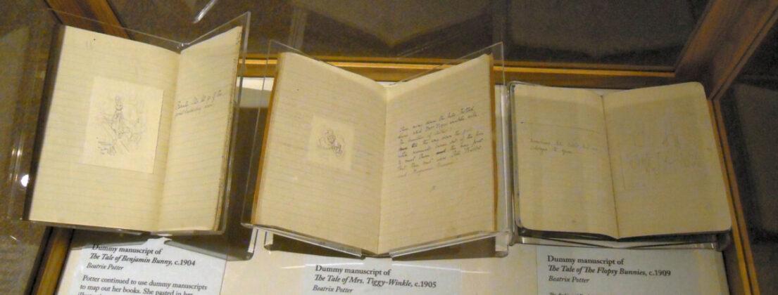 Beatrix Potter hevenyészett vázlata, hogy hogy fog kinézni a kötete nyomtatásban