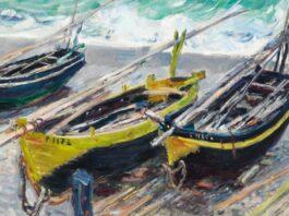 Claude Monet: Három halászhajó, 1886