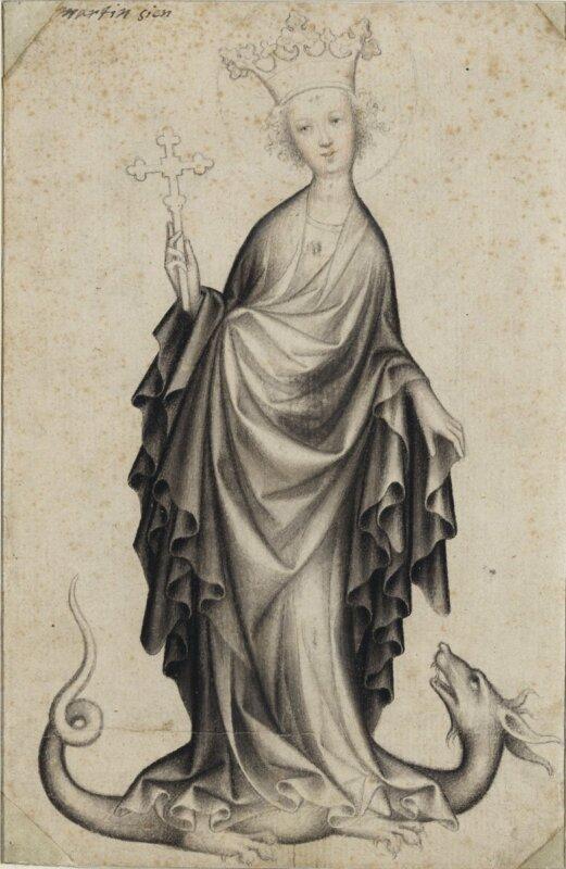Cseh művész - Szent Margit, 1410-1415 körül - forrás: Szépművészeti Múzeum