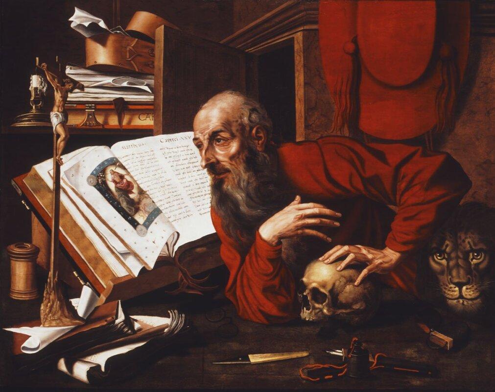 Flamand festõ: Szt. Jeromos a cellájában - forrás: Szépművészeti Múzeum