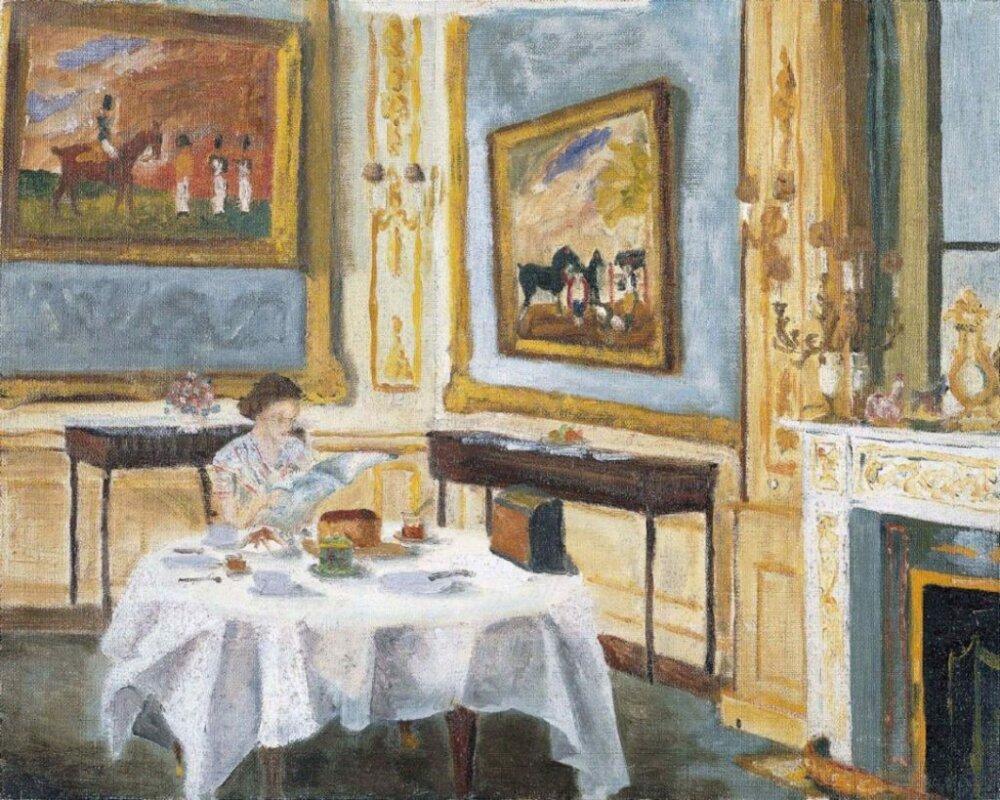 Fülöp, Edinburgh hercege: II. Erzsébet királynő reggelije a Windsor-kastélyban – forrás: Royal Collection Trust