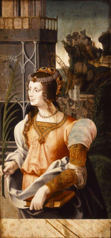 Grégorie Guérard - Szent Borbála, 1520 - forrás: Szépművészeti Múzeum
