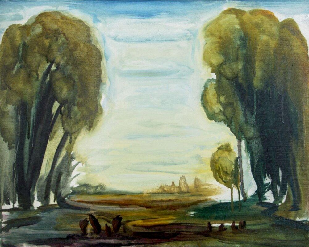 Szotyory László: Hommage a Watteau 2021, olaj, vászon, 40x50 cm, Várfok Galéria - forrás: Várfok Galéria