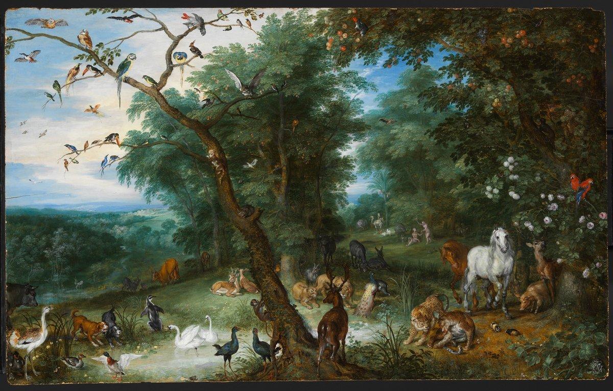 Jan Brueghel: Paradicsomi táj a bűnbeeséssel, 1612-1613 körül