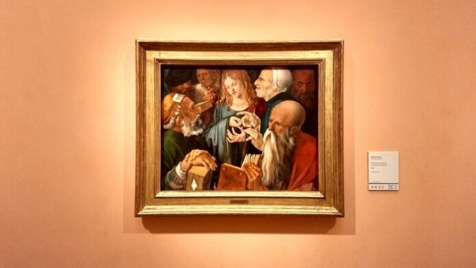 Albrecht Dürer: Jézus a doktorok között, 1506. Madrid, Museo Nacional Thyssen Bornemisza - Fotó: Marton Ildikó