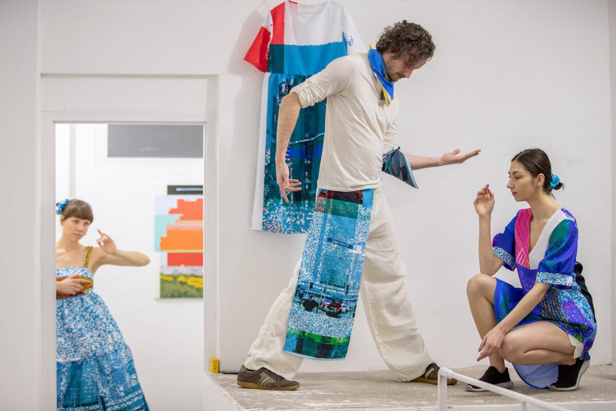 A Ziggurat Project performansza a kiállítás megnyitóján - fotó: Jekken Péter